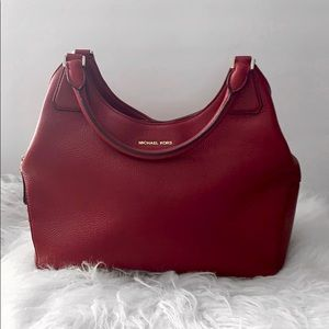 Michael Kors Red Camille Shoulder Handbag